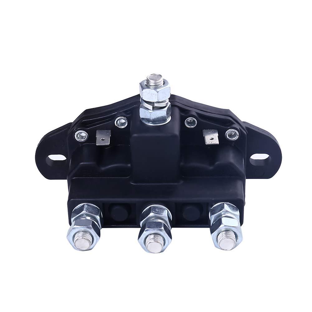 Shiwaki Confezione da 2 di Solenoide Universale per Verricello 24V 500A Contattore per Rel/è per Camion Verricelli ATV UTV
