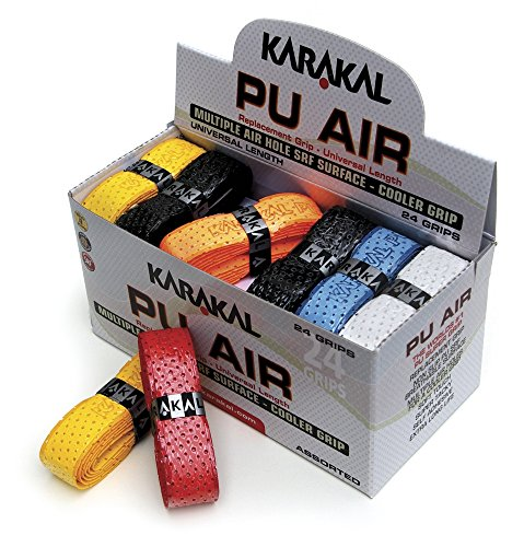 Karakal PU Super Air Box 24 Squash Grip Assorted Colors