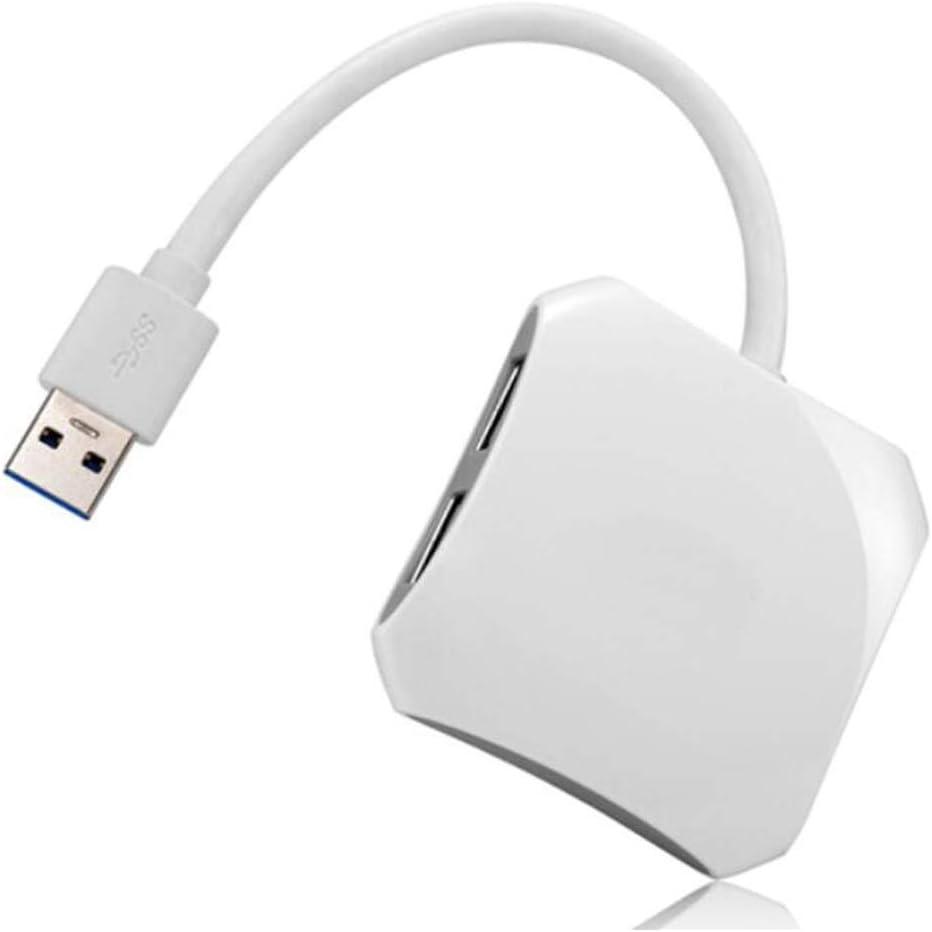 Blue Safety Hongyuantongxun Hub High-Speed USB3.0 Four-Port USB HUB Hub Color : White