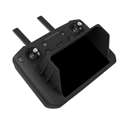 Mintata2020 Protective Sunshade Cover Smart Controller Silicone Case with Sun Hood Sun Shade for DJI Mavic 2 Controller (Color : Black(with Hood)) : Baby