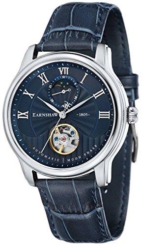 Thomas Earnshaw Mens The Longitude Moonphase Watch - Blue/Silver