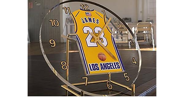 MyShirt123 Lebron James 23 - Los Ángeles Lakers NBA Basketball Jersey Desktop Clock - Letras de Deporte edición Limitada: Amazon.es: Deportes y aire libre