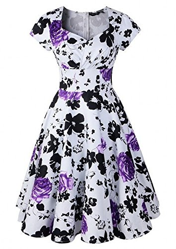 LUOUSE-50s-Audrey-Hepburn-Vintage-Swing-Party-Rockabilly-Dress