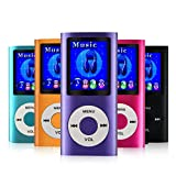MYMAHDI-MP4-MP3-Player-with-Voice-Recorder-Photo-Viewer-E-Book-Reader-USB-charger-Earphones-and-64-GB-Micro-SD-Card-Purple