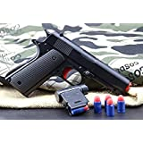 Childrens color toy gun Mauser toy pistol, children's classic m1911A1 with soft bullet, teaching safe shooting and gun fun outdoor games and children's safe playand 2 Extra Bullets