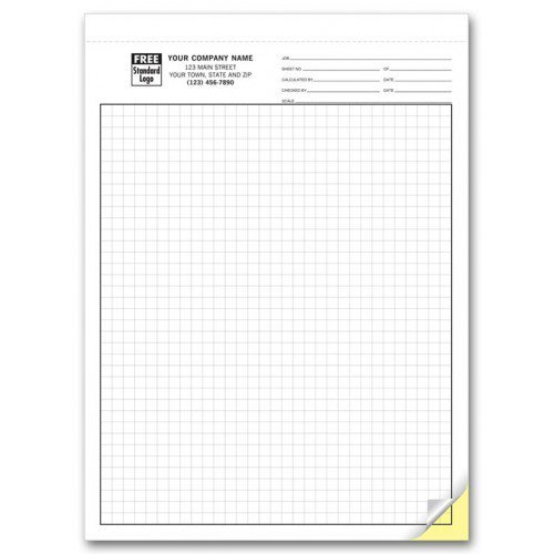 Carbonless Engineering Graph Paper - 1/4 Inch by PrintEZ (Image #1)