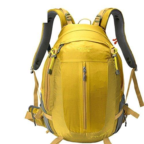 Sincere® Verpackung / Rucksäcke / Mobil / Ultralight Mode Sportrucksack / Bergbeutel / im Freien Reiserucksack / Tornister Suspension atmungsaktiv / wasserabweisenden-Golden 50L