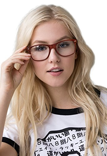 Geeky Glasses Clear Lens Geek Nerd Cosplay Chunky Frame Cute Larp Men's - Glasses Nerd Uk
