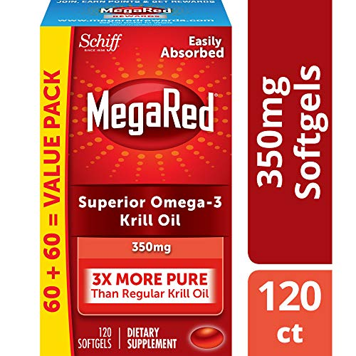 Megared Omega 3 Supplement Krill Oil To Promote Heart Health, 350 Mg, 120 Count