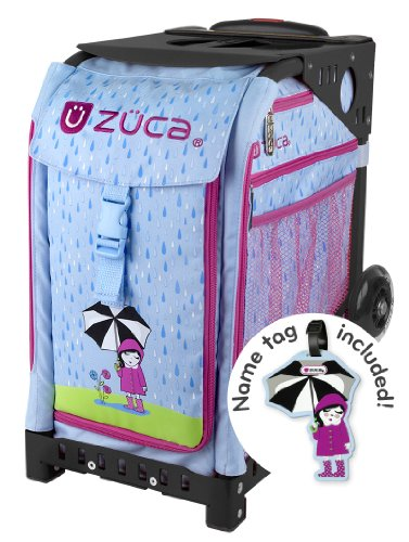 Zuca April Shower Bag, Name Tag, Black Sport Frame, Non Flashing Wheels by ZUCA