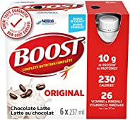 BOOST Original Meal Replacement Drink, Choc Latte, 24 x 237 ml - PACKAGING MAY VARY