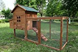 ECOLINEAR Outdoor 80'' Wooden Chicken Coop Nest Box Hen House Poultry Pet Hutch