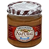 Smucker's Natural Creamy No Salt Added Peanut Butter, 12 Ounce (Pack of 12)