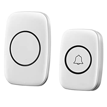ANHPI Remote Wireless Doorbell Electronic Remote Control Doorbell Elderly Maternity Children Pager,Black