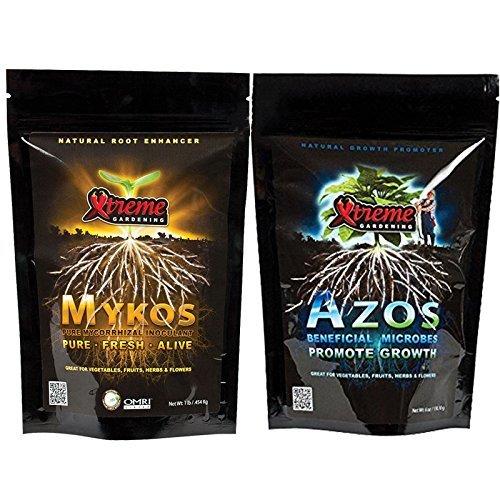 Xtreme Gardening Azos Fertilizer 6oz with Mykos Granular 1 LB ()
