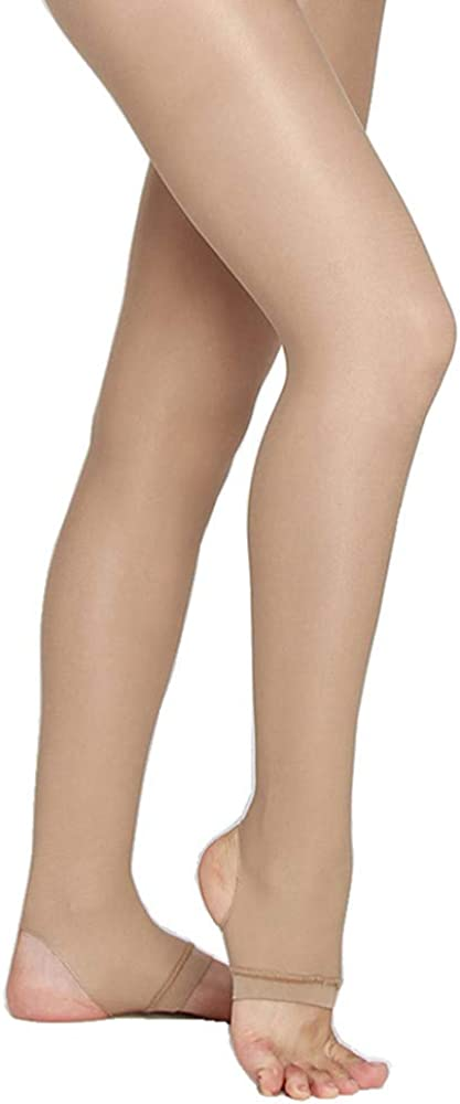 Ladies Little GirlsUltra Sheer Pantyhose Tights Stockings Nylon Womens Stirrup Ballet Dance Shimmer Tights