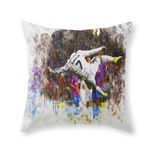 Kaixin J Cristiano Ronaldo - THE TRADE MARK KICK Throw Pillow Indoor Cover...