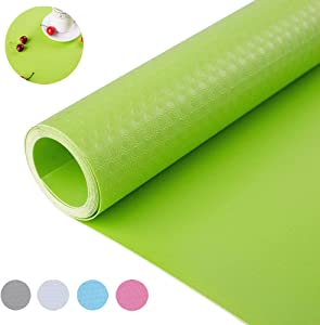 "Bloss Cupboard Shelf Liner Drawer Liner Non-Slip Non-Adhesive Refrigerator Pad for Home Kitchen-Green 17.7""×59""…"