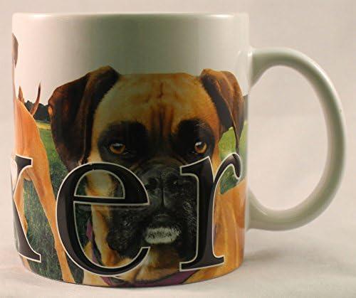 Printed Mug I LOVE HEART BOXERS Novelty Tea//Coffee Boxer Dog Fan Gift Present