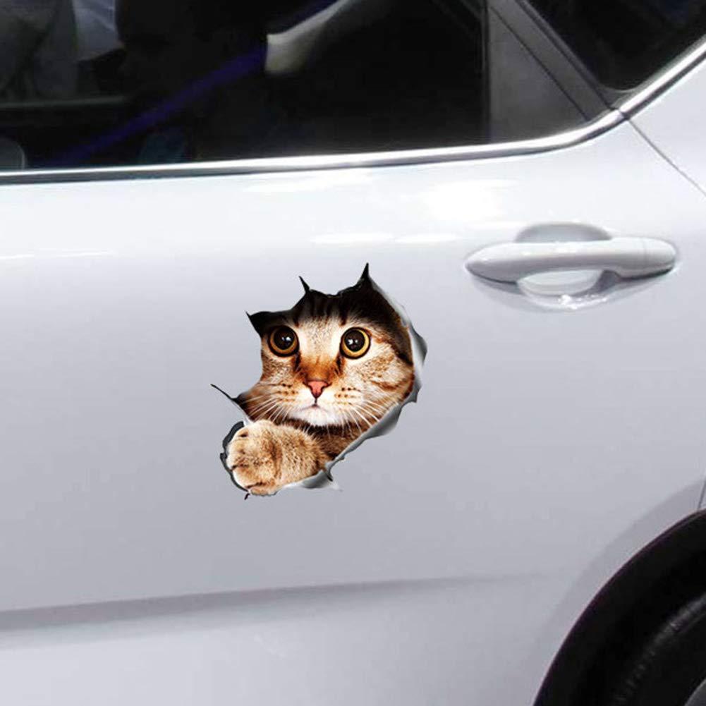 YUSHHO56T Car Sticker External Decoration Car Sticker Funny 3D Peeking Cat Car-Styling Vehicle Body Scratch Decals Sticker Decoration 4