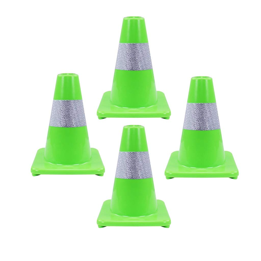 Color : Light blue AJZGF Traffic cone Emergency warning fluorescent road cones with reflective strips secure parking H-30CM Highway traffic cone