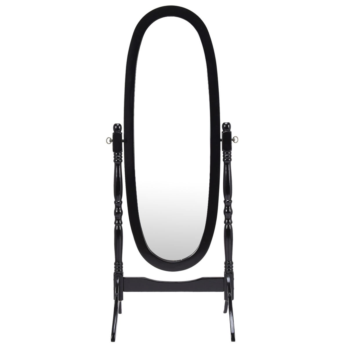 New Full Length Dressing Mirror Swivel Wood Cheval Floor Standing Bedroom Antique