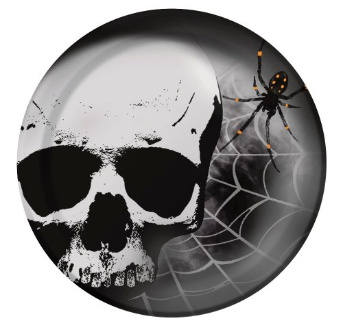 Creative Converting 8 Count Skull Terror Paper Dinner Plates