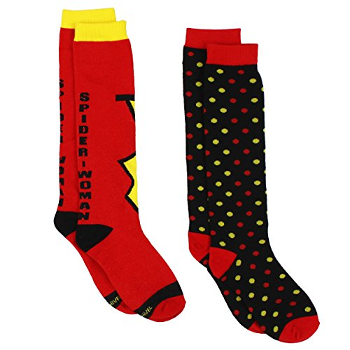 Spider-Woman Womens Novelty Costume 2 pack Knee High