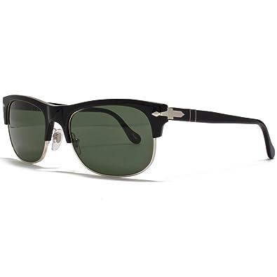 Persol Black Po3034s Green Sunglasses Clubmaster Style 9531 53 3R54AjL
