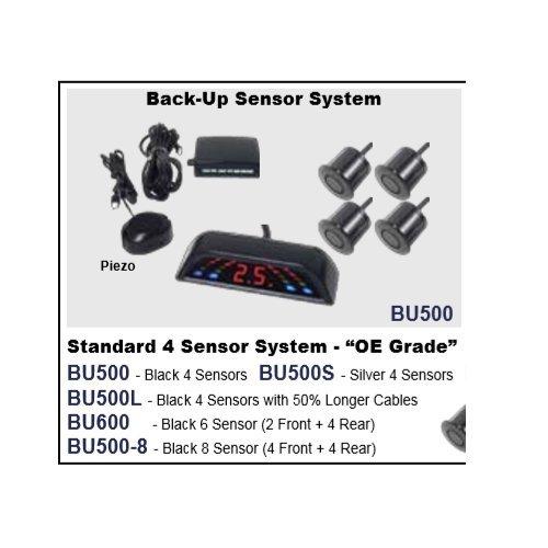 Lessco Electronics Accele BU500L Back-up Parking Sensor System w/4 Sensors & 50% Longer Cables