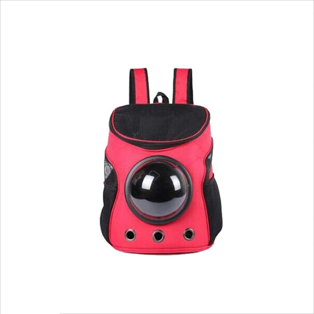 Red YQRYP Pet Backpack Pet Carrier,Dog Cat Space Capsule Shaped Puppy Travel Carrying Backpack,Breathable Shoulder Outside Portable Bag Pet Products Walking,Travel,Hiking,Camping (color   Red)