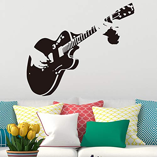 Creative Art Guitar Wall Stickers Home Decor DIY Musical Instrument Vinyl Wall Stickers Home Decor Living Bedroom k3 43x49cm