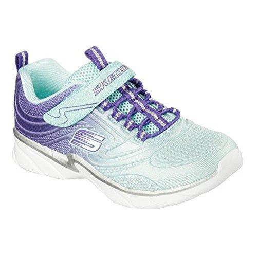 Skechers Girls Swirly Girl Shine Vibe Sneaker,Aqua/Purple,US 2.5 M by Skechers