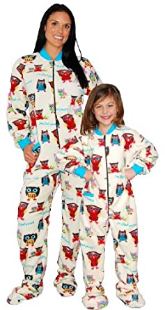 Amazon.com: Lazy One I'm Owl Yours Footed Pajamas for Adults: Clothing