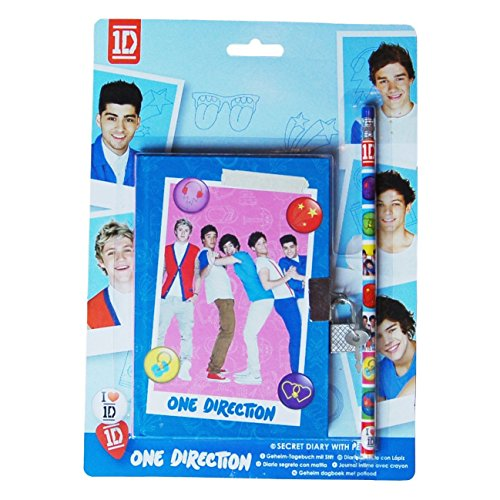 1D One Direction Secret Padlock Diary Note Book & Pencil Set (One Direction Official Diary)