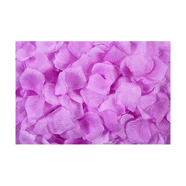 Vivianbuy 10,000PCS Fabric Lilac Rose Flower Petals Wedding Artificial Flower Petals for Wedding Decoration and Romantic Occasion