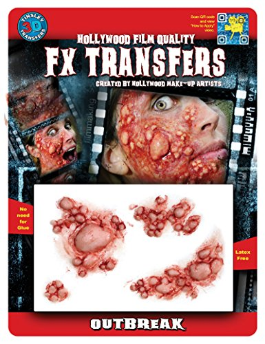 Tinsley Transfers  Outbreak, Flesh/Multi, One Size