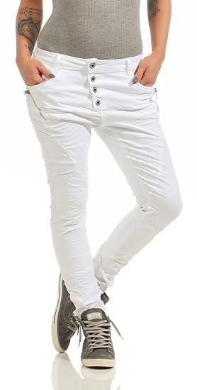 Damen Hose Damenjeans Lexxury 11424 Fashion4young Slim Boyfriend Fit Jeans Röhrenjeans Haremscut Baggy 8wvmN0On