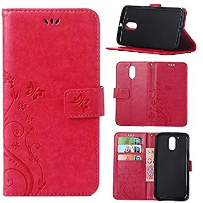 Moto G4 / G4 Plus Case, Harryshell(TM) PU Wallet Leather Protective Case Cover with Card Slots for Motorola Moto G 4th Generation / Moto G Plus (2016) from Harryshell