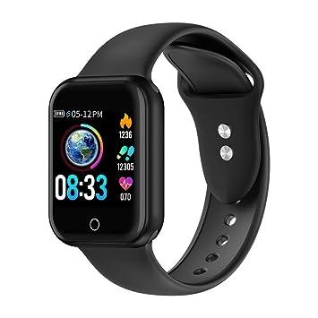 Reloj Inteligente, 1.4 Inch Monitoreo de presión Arterial Smartwatch, Pulsómetro Impermeable IP68 Pulsera Actividad con Inteligente de Podómetro y ...