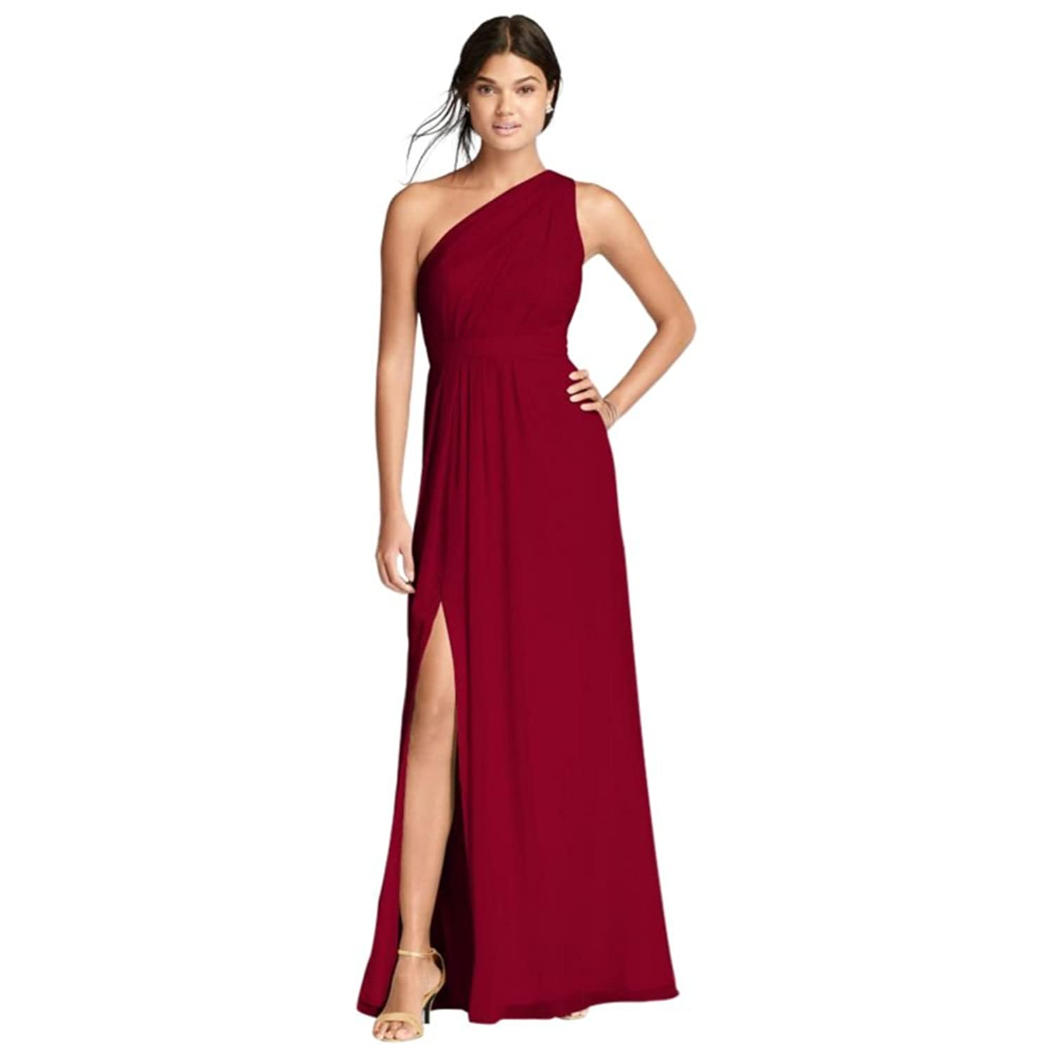 Long chiffon bridesmaid dress with asymmetric neckline style long chiffon bridesmaid dress with asymmetric neckline style f18055 at amazon womens clothing store ombrellifo Image collections