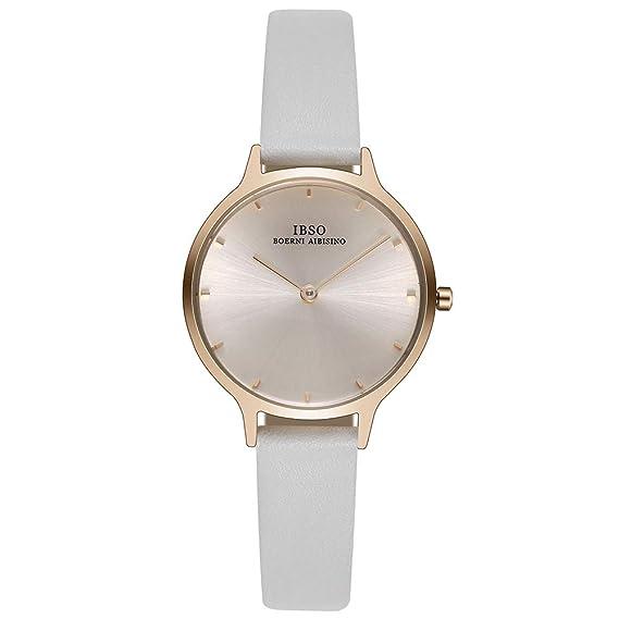 Women Watches Leather Strap Round Case Analog Fashion Ladies Watch on Sale Wrist Watches (1001