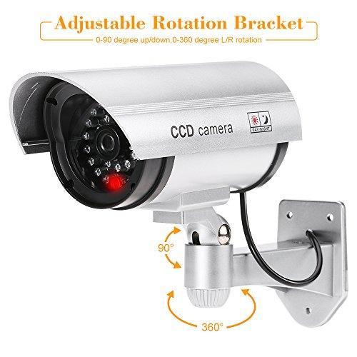 KKmoon 4Pcs Cámara Simulada Falsa Inalámbrico Impermeable Sistema de Vigilancia IR LED: Amazon.es: Electrónica