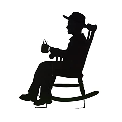 Awesome Collections Etc Charming Rocking Chair Shadow Figure Yard Stakes Grandpa Squirreltailoven Fun Painted Chair Ideas Images Squirreltailovenorg
