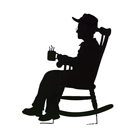 Amazon Com Collections Etc Charming Rocking Chair Shadow Figure