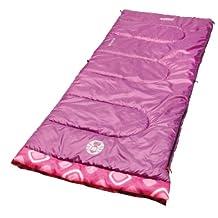Coleman Plum Fun 45 Degree Youth Sleeping Bag,Pink