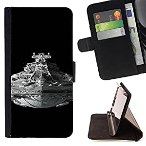 For Apple Iphone 6 PLUS 5.5 Star Wars Battleship Leather Foilo Wallet Cover Case with Magnetic Closure