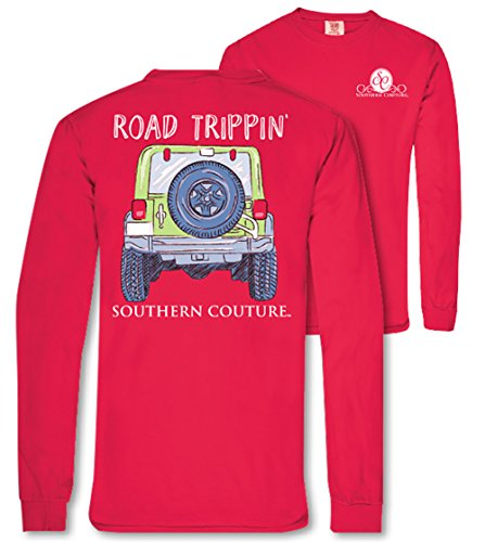 Southern Couture SC Comfort Road Trippin on Long Sleeve Womens Fit Shirt – Paprika, Large