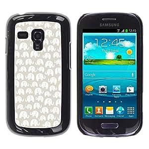 Be Good Phone Accessory // Dura Cáscara cubierta Protectora Caso Carcasa Funda de Protección para Samsung Galaxy S3 MINI NOT REGULAR! I8190 I8190N // White Pattern Beige Minimalist