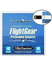 FlightGear Flight Simulator 2020 X Flight Sim Plane & Helicopter Professional Simulator USB Including 600+ Aircraft & 20,000 Real World Airports Compatible with Microsoft Windows 11 10 8.1 8 7 Vista PC